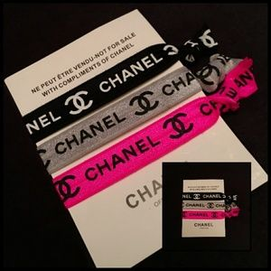 Chanel hair ties/wrist band